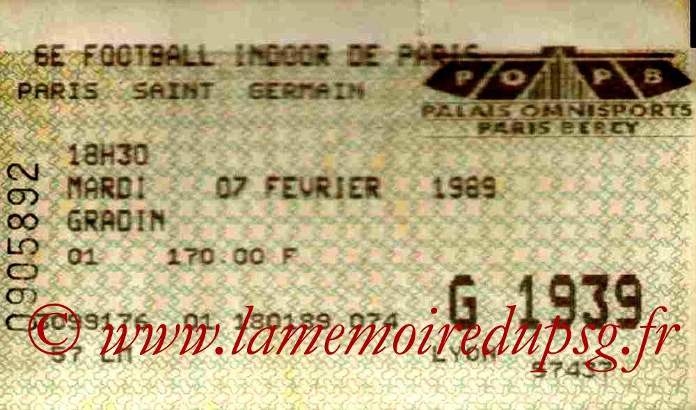 1989-02-06  6ème Foot indoor à Bercy (2ème journée)