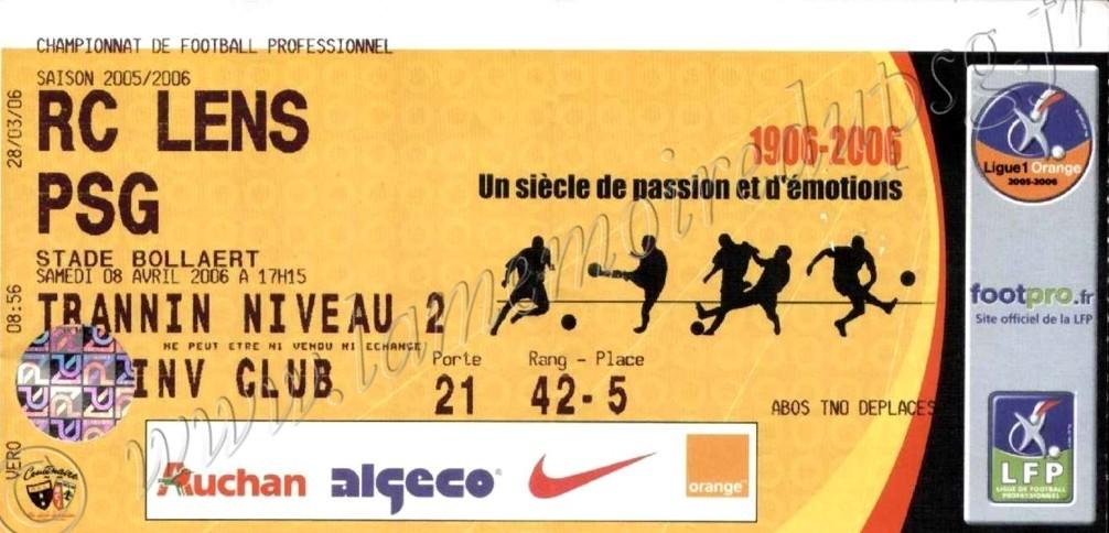 2006-04-08  Lens-PSG (34ème L1, bis)