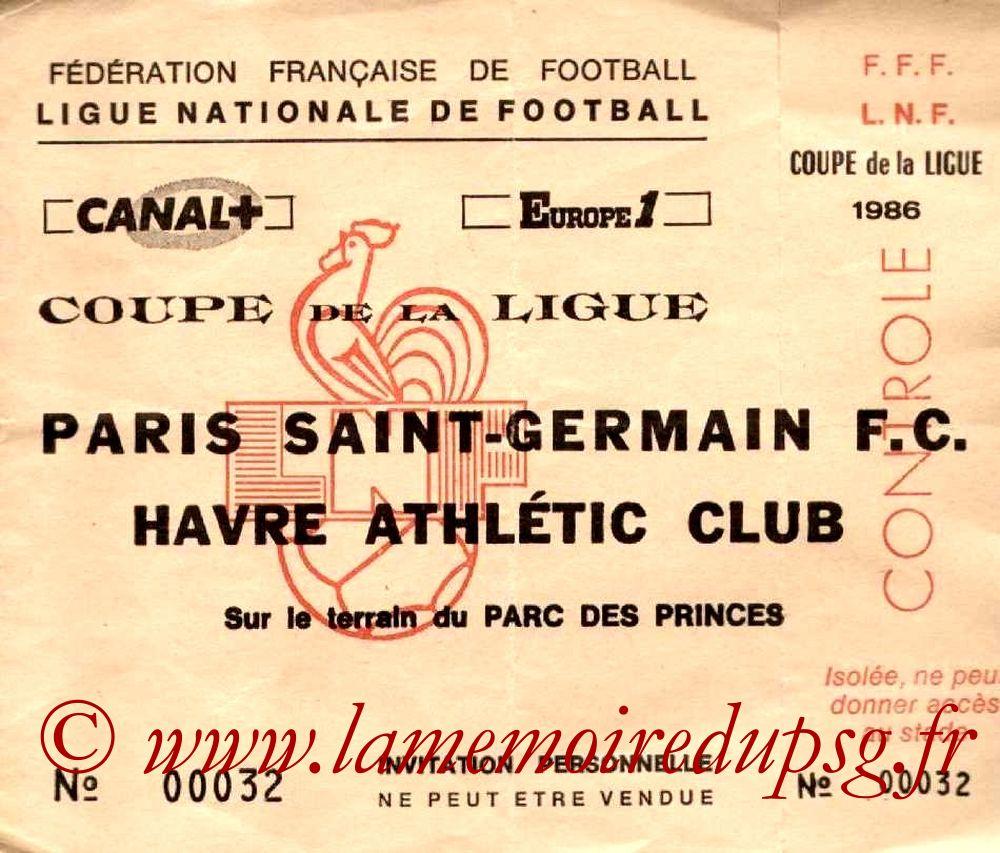 1986-07-05  PSG-Le Havre (Poule CL, invitation)