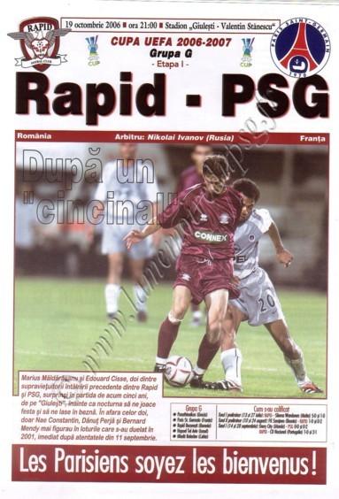 2006-10-19  Rapid Bucarest-PSG (1ère Poule C3, Officiel)