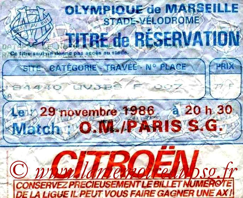 1986-11-28  Marseille-PSG (19ème D1)