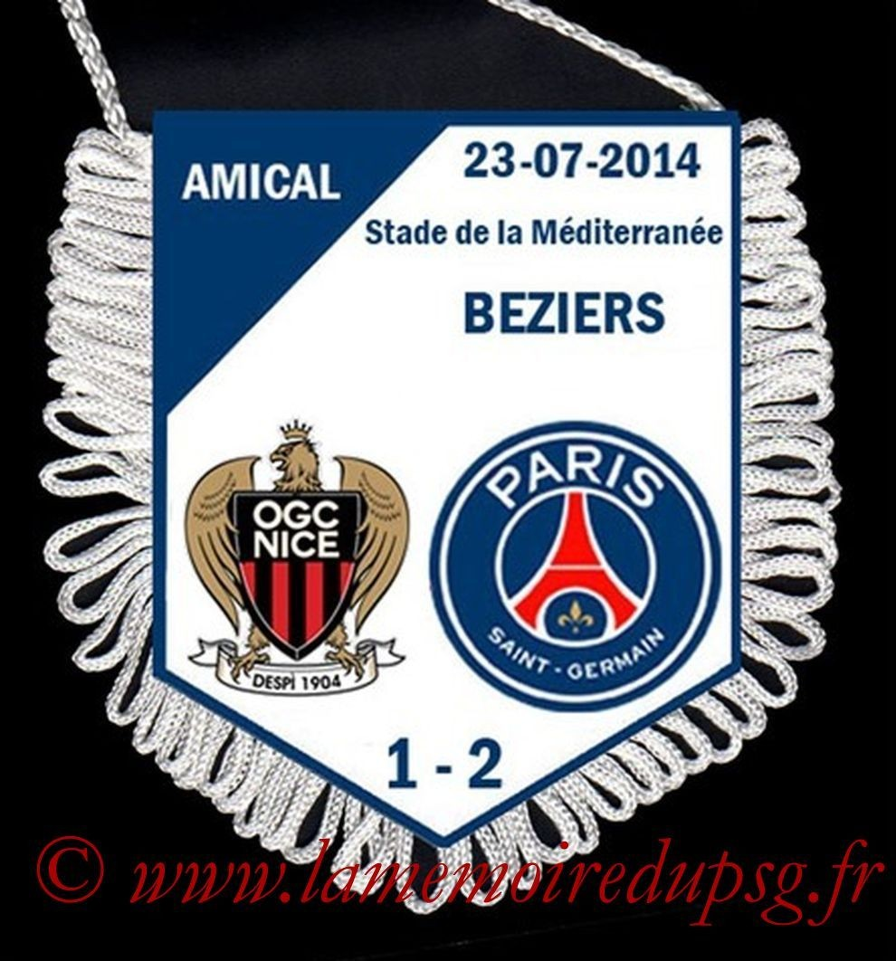 2014-07-23  Nice-PSG (Amical à Beziers)