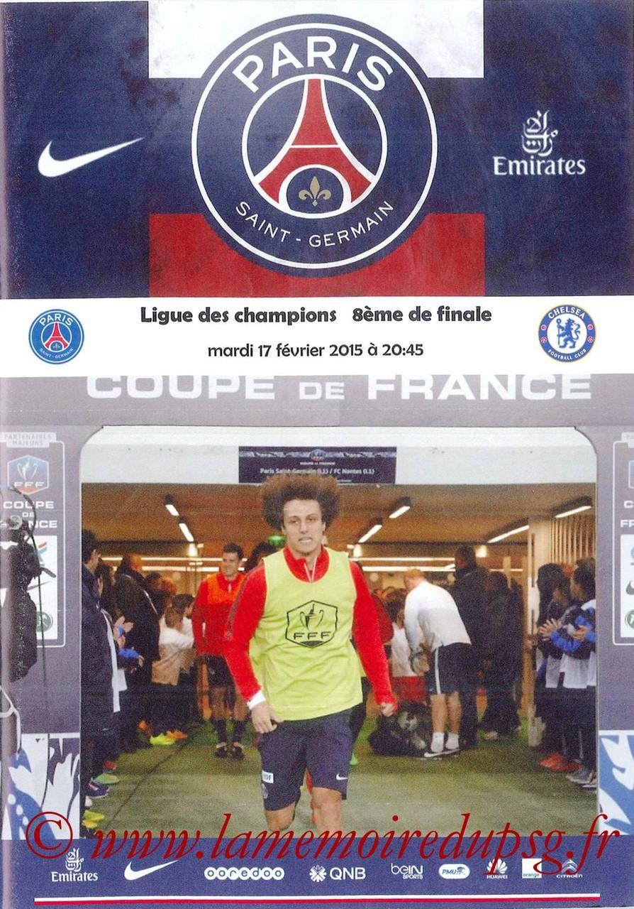 2015-02-17  PSG-Chelsea (8ème aller C1, Programme pirate 3)