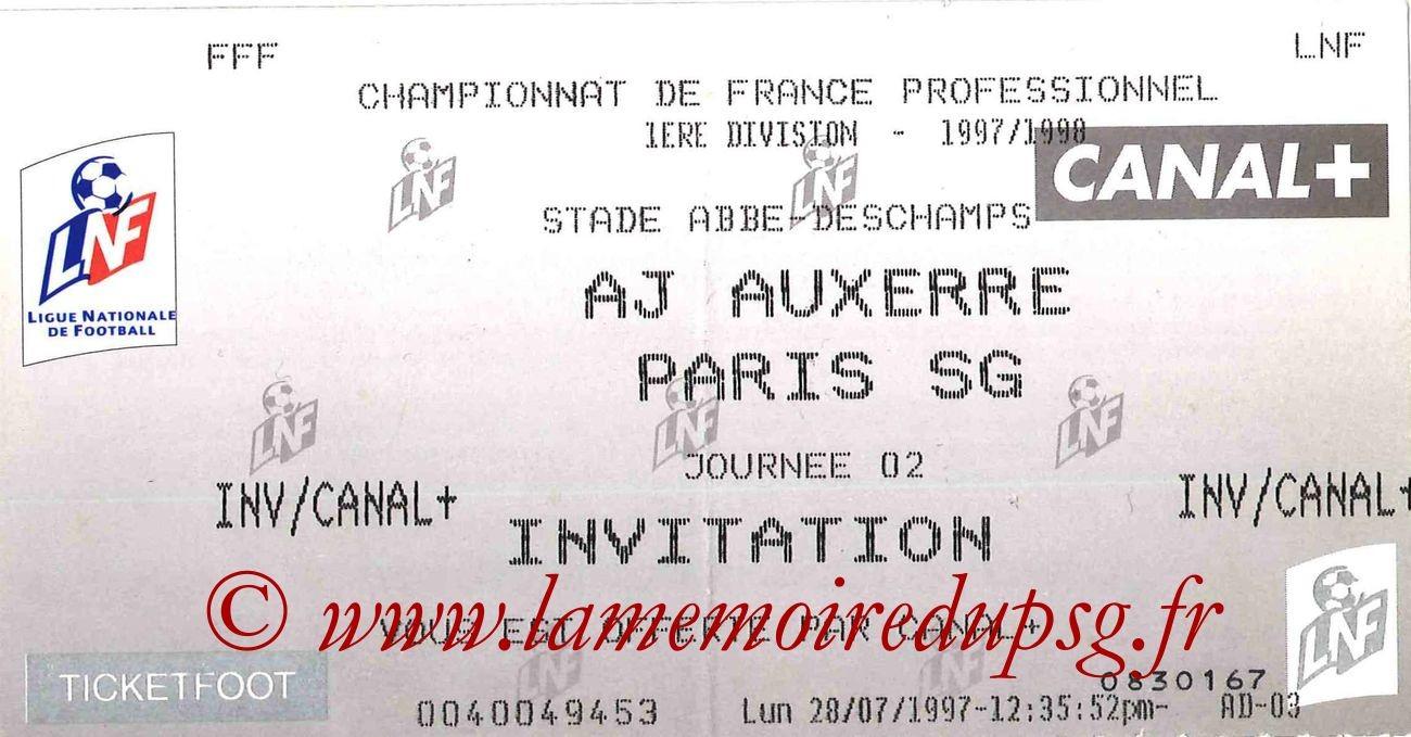 1997-08-07  Auxerre-PSG (2ème D1, Ticketfoot)