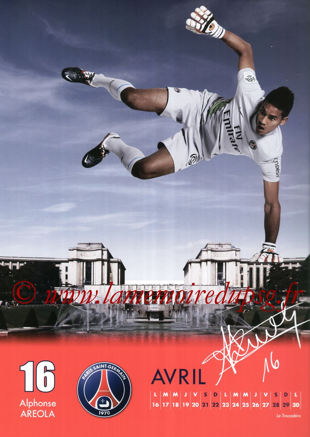 Calendrier PSG 2012 - Page 08 - Alphonse AREOLA