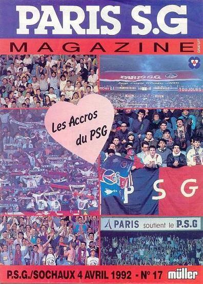 1992-04-04  PSG-Sochaux (34ème D1, Paris SG Magazine N°17)