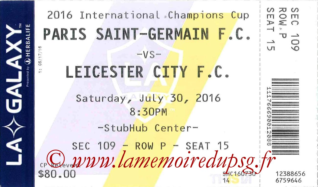 2016-07-30  PSG-Leicester City (International Champions Cup à Carson)