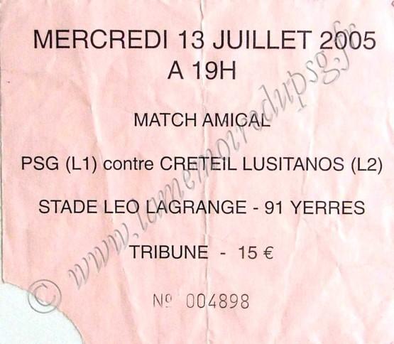 2005-07-13  PSG-Creteil (Amical à Yerres)