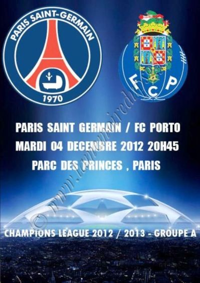2012-12-04  PSG-FC Porto (6ème Journée Poule C1, Programme pirate)