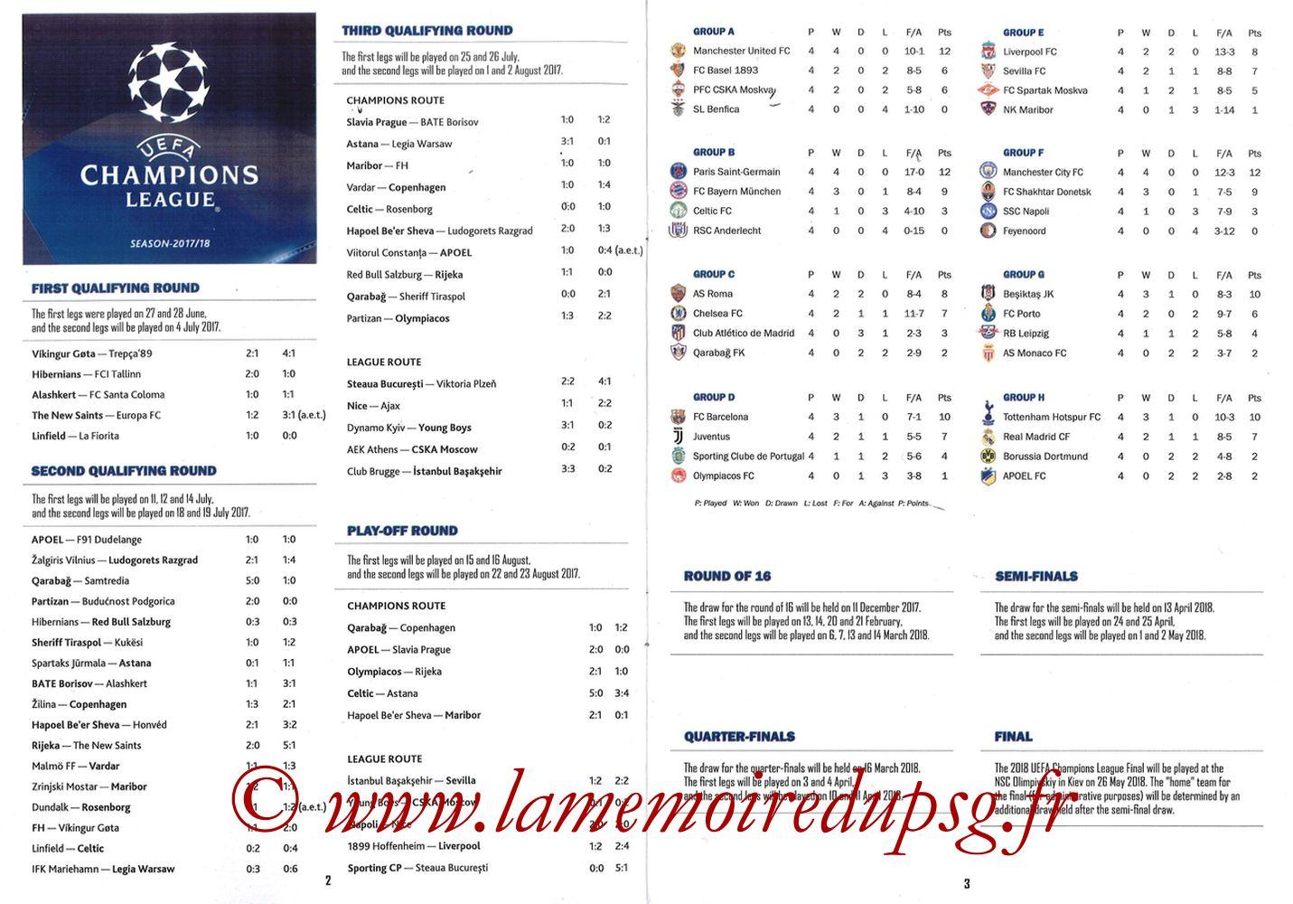 2017-11-22  PSG-Celtic (5ème Poule C1, Programme pirate) - Pages 02 et 03
