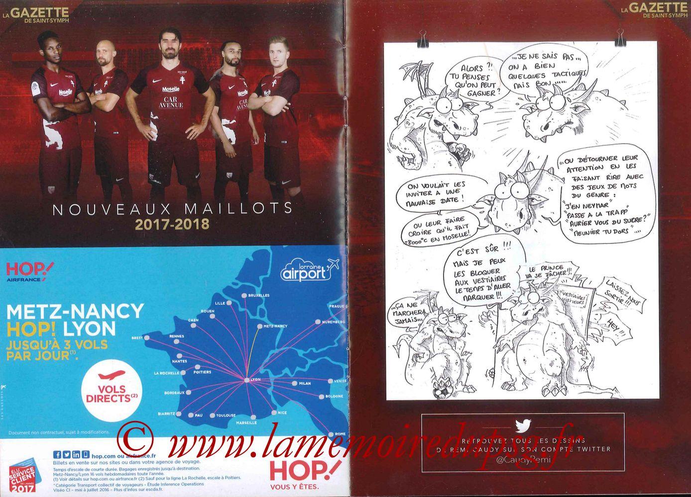 2017-09-08  Metz-PSG ((5ème L1, La Gazette de Saint-Symph) - Pages 04 et 05
