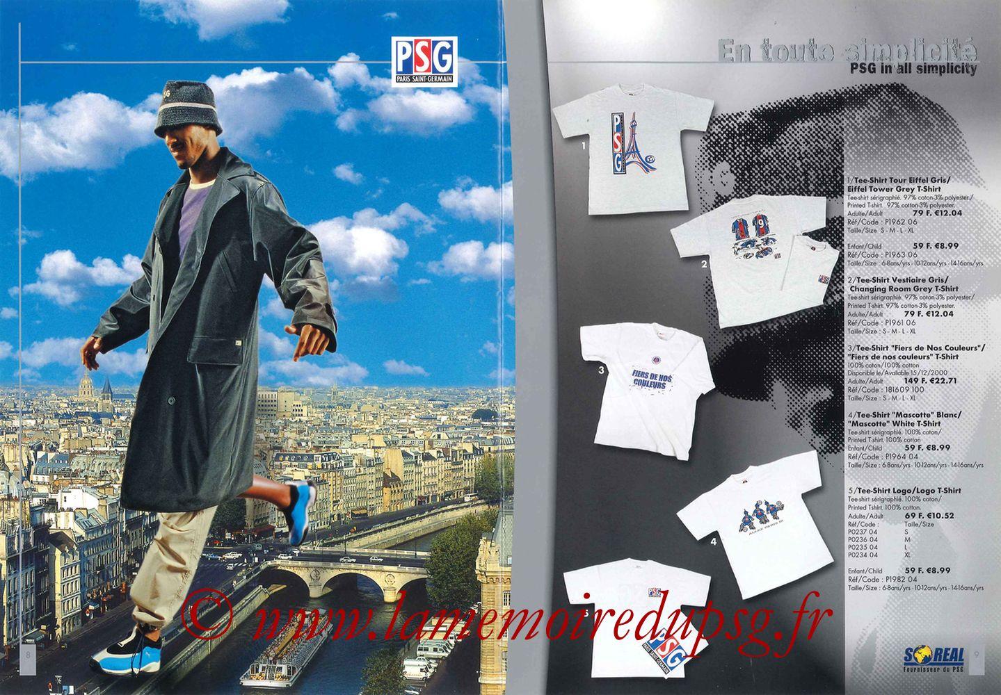 Catalogue PSG - 2000-01 - Pages 08 et 09