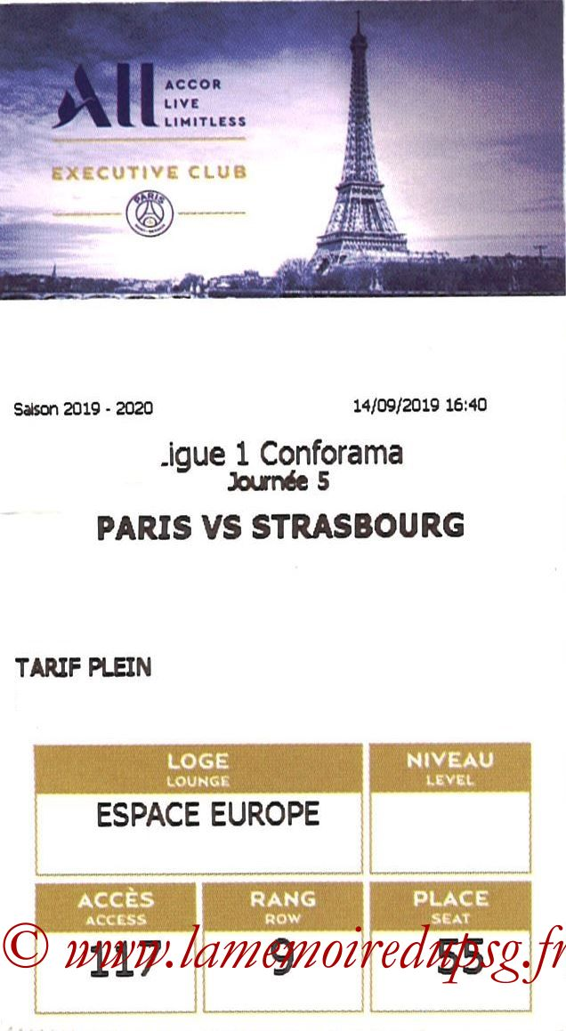2019-09-15  PSG-Strasbourg (5ème L1, E-ticket Executive Club)