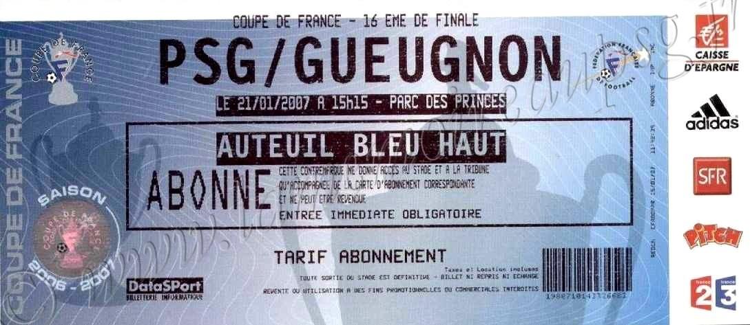 2007-01-21  PSG-Gueugnon (16ème Finale CF)