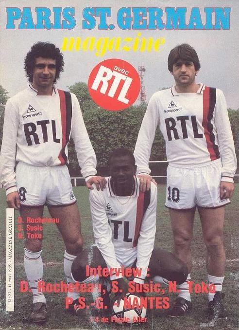 1985-05-11  PSG-Nantes (Quart Aller CF, Paris SG Magazine N°23)
