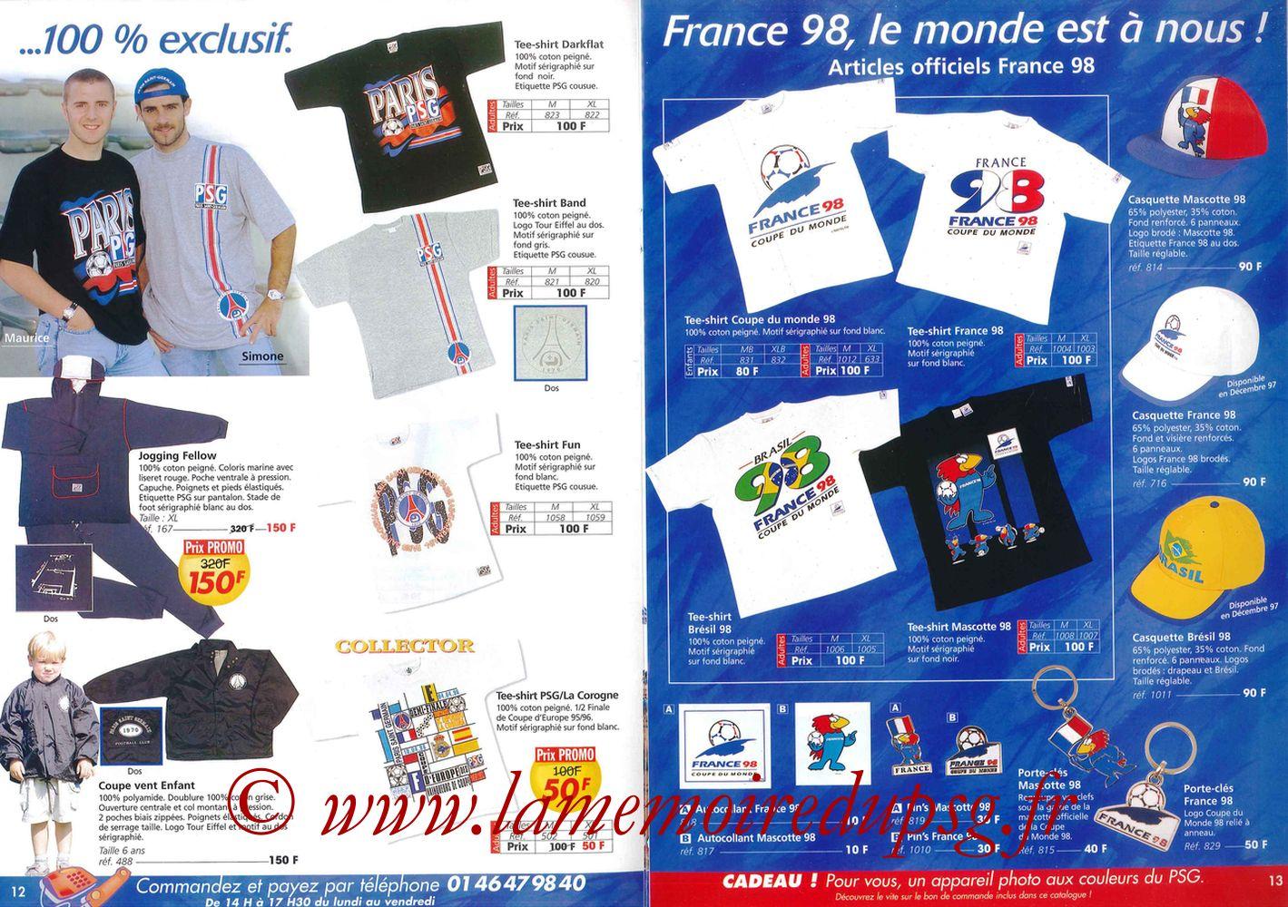 Catalogue PSG - 1997-98 - Pages 12 et 13