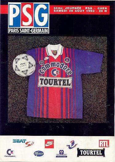 1993-08-28  PSG-Caen (6ème D1, PSG Magazine N° HS)