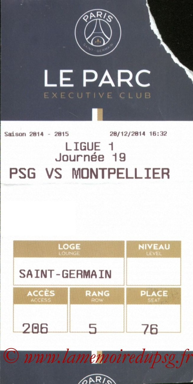 2014-12-20  PSG-Montpellier (19ème L1, E-ticket Executive club)