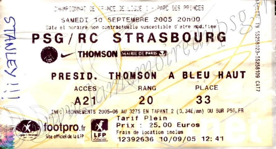 2005-09-10  PSG-Strasbourg (6ème L1, Ticketnet)