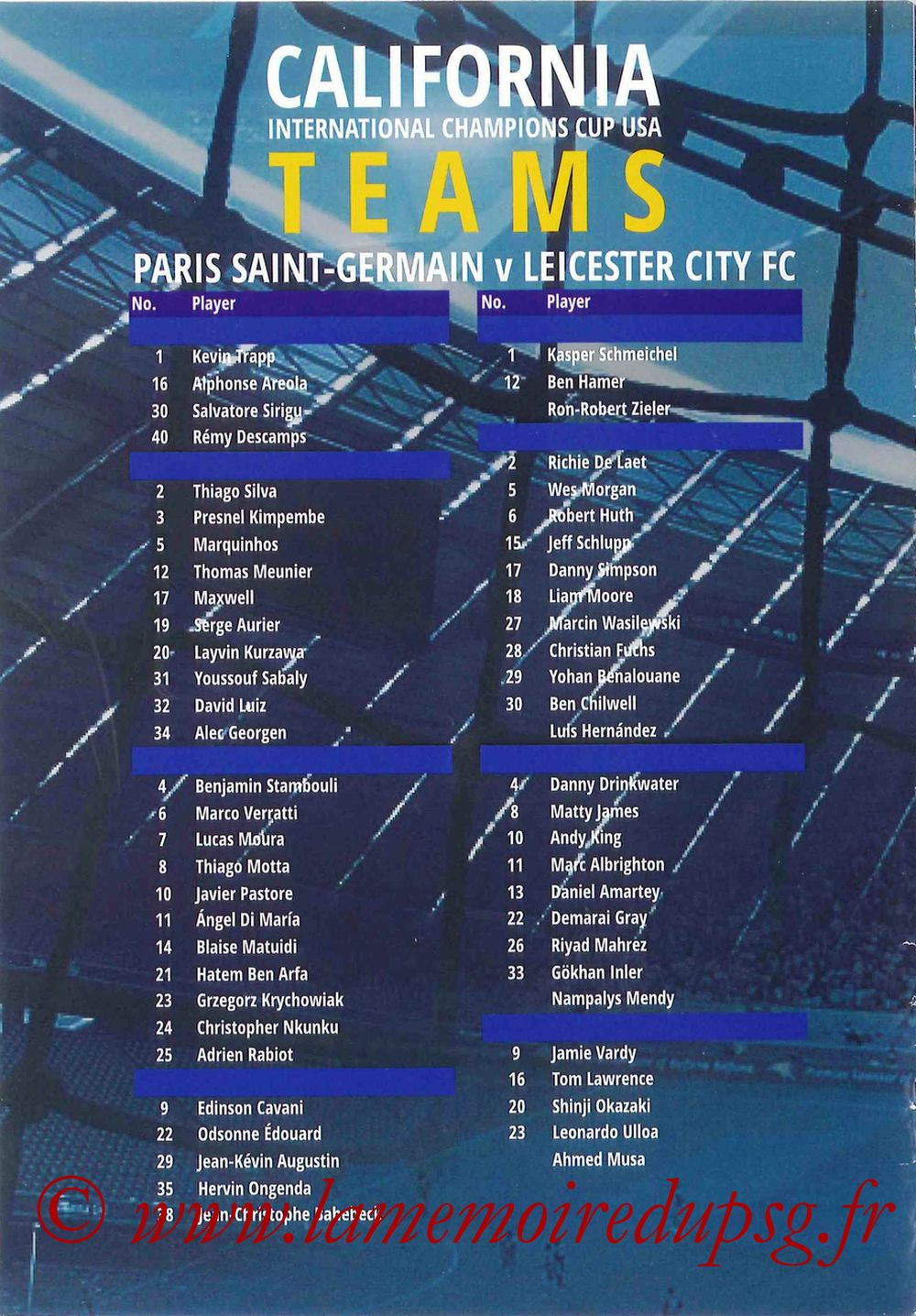 2016-07-30  PSG-Leicester City (International Champions Cup à Carson, Programme pirate) - Page 08