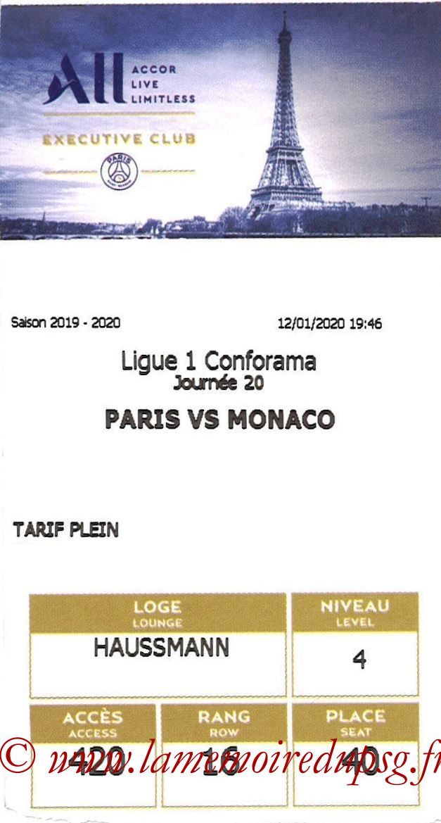 2020-01-12  PSG-Monaco (20ème L1, E-ticket Executive club)