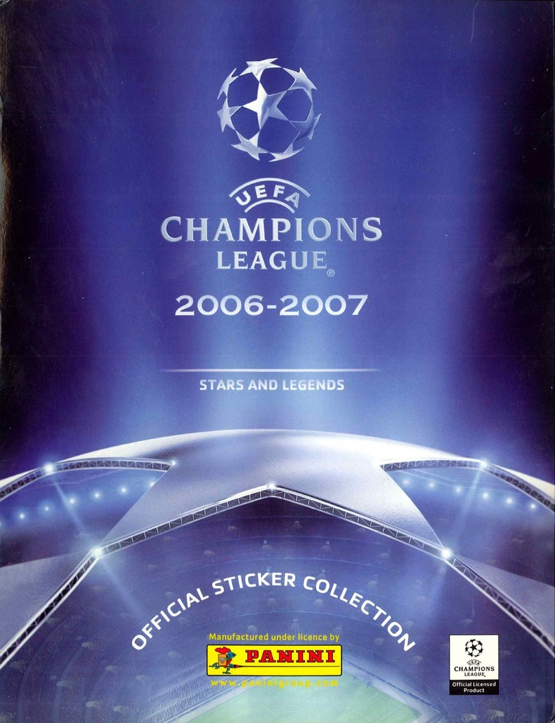 2006-07 - Panini Champions League - Couverture