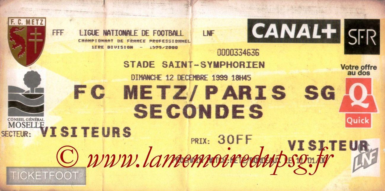 1999-12-11  Metz-PSG (19ème D1 bis)