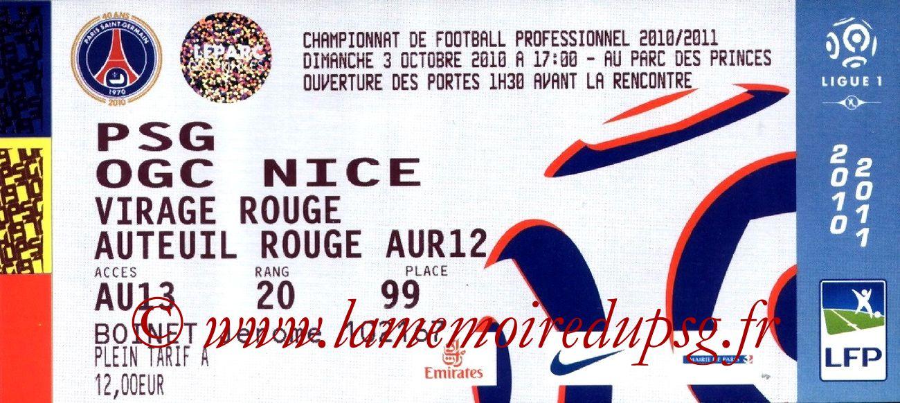 2010-10-03  PSG-Nice (8ème L1)