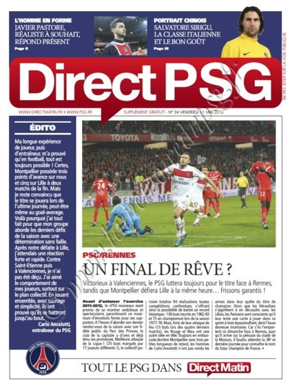 2012-05-13  PSG-Rennes (37ème L1, Direct PSG N°34)
