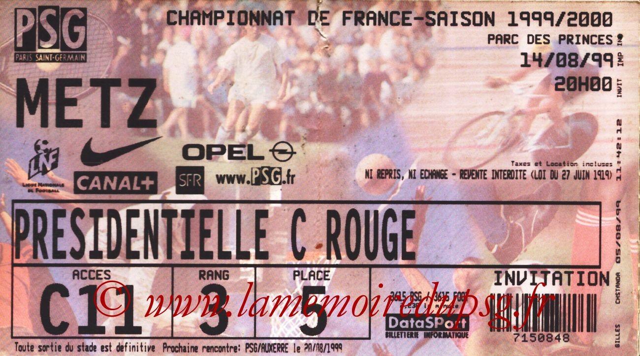 1999-08-14  PSG-Metz (3ème D1)