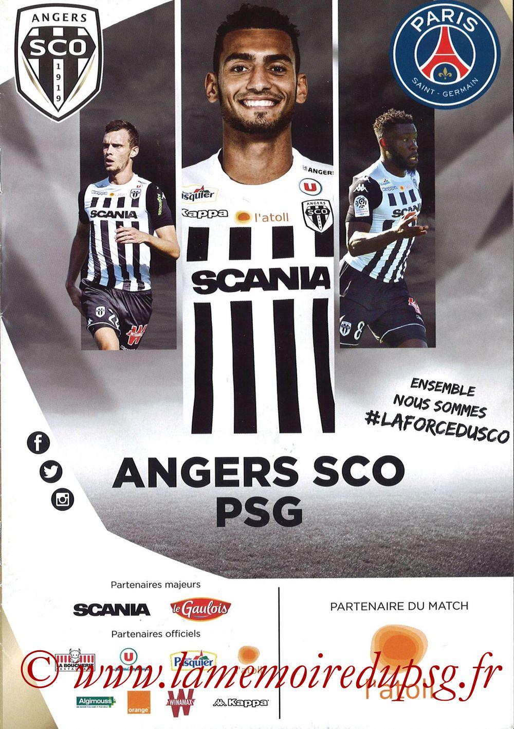 2017-11-04  Angers-PSG (12ème L1, Programme officiel)