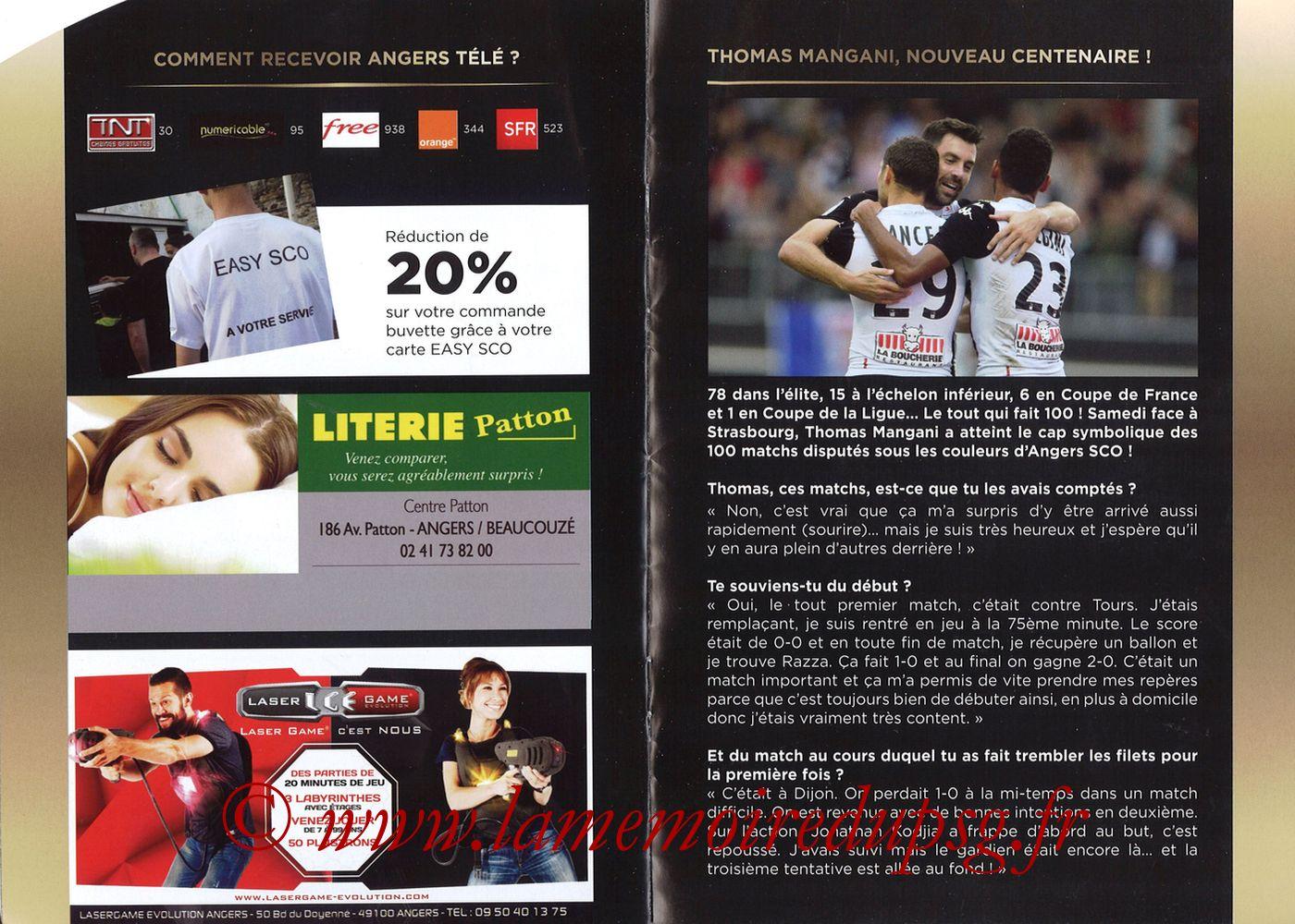 2017-11-04  Angers-PSG (12ème L1, Programme officiel) - Pages 06 et 07