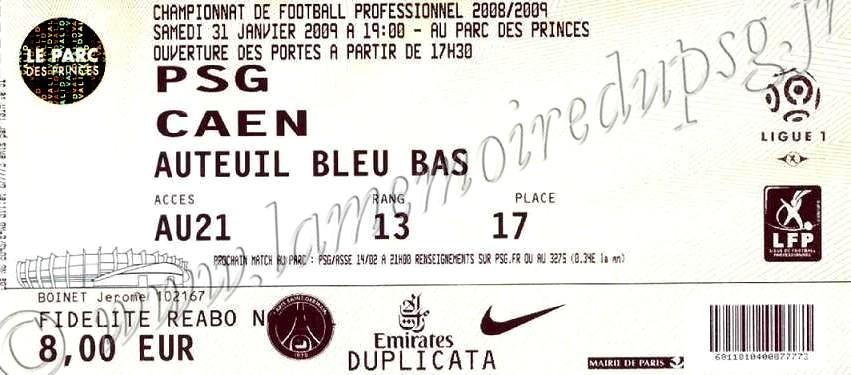 2009-01-31  PSG-Caen (22ème L1)