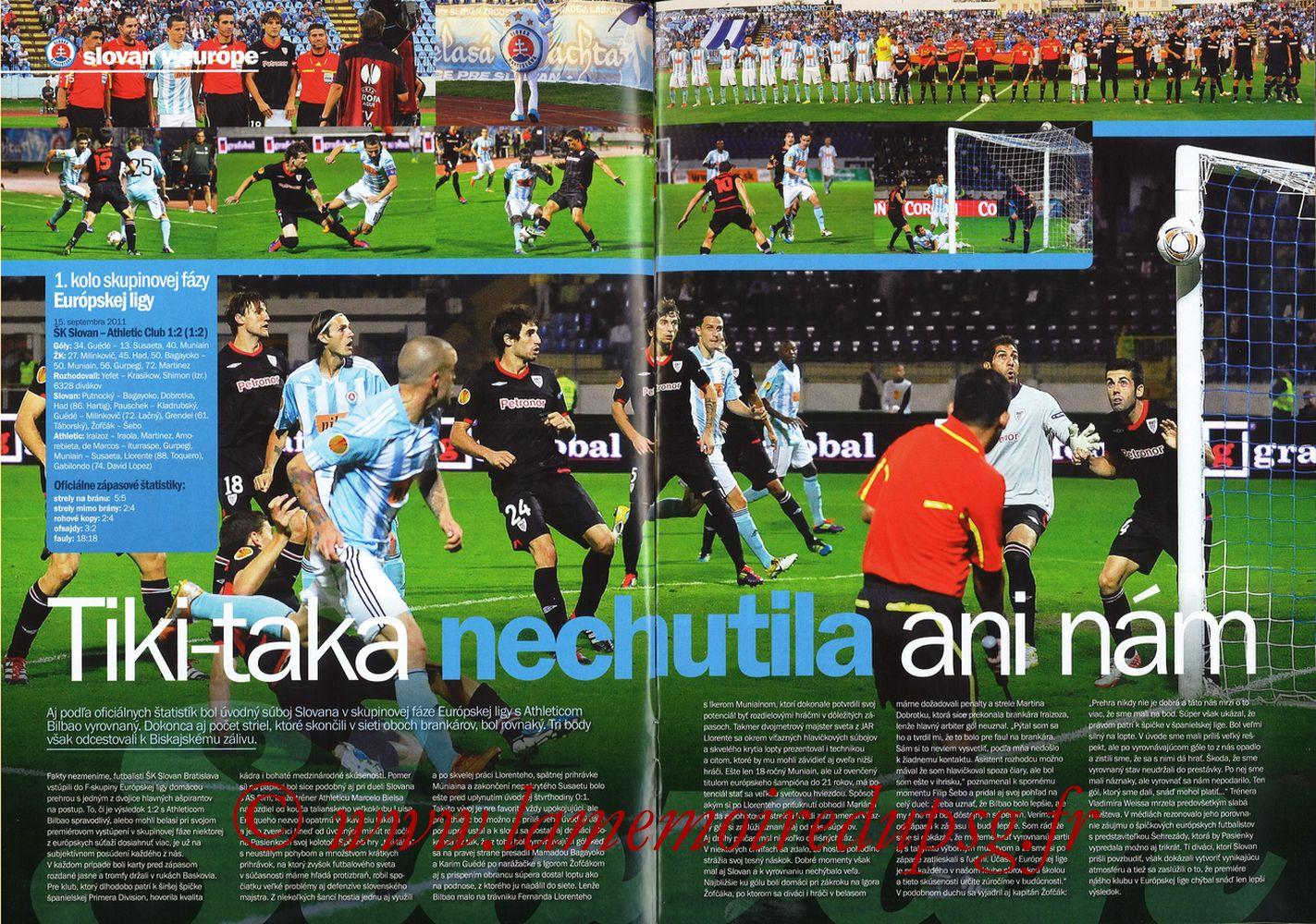2011-10-20  Slovan Bratislava-PSG (3ème C3, Slovan N°4) - Pages 14 et 15