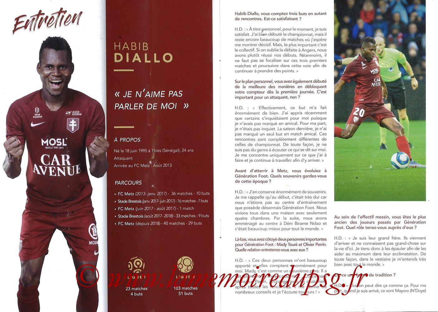 2019-08-30  Metz-PSG (4ème L1, La Gazette de Saint-Symph') - Pages 08 et 09