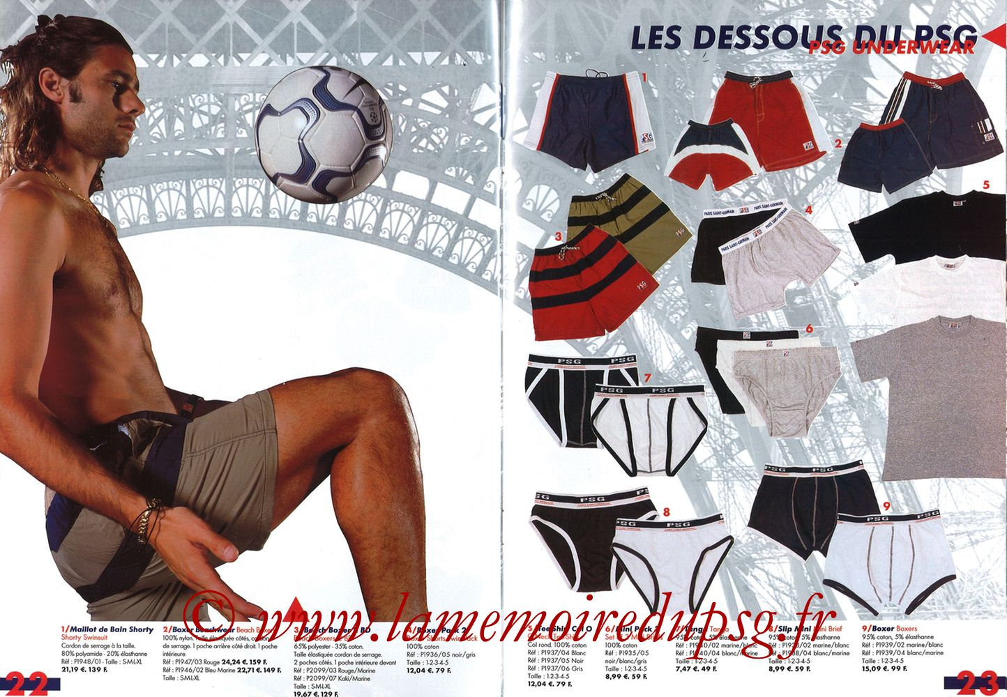 Catalogue PSG - 2001-02 - Pages 22 et 23