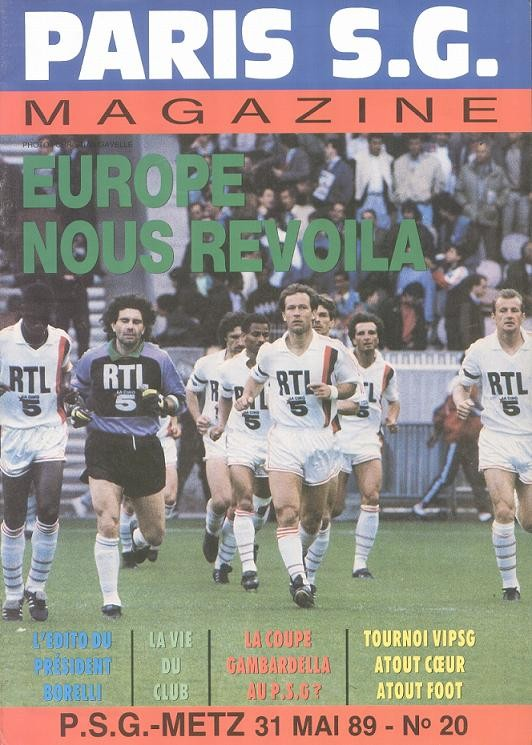 1989-05-31  PSG-Metz (38ème D1, Paris SG Magazine N°20)