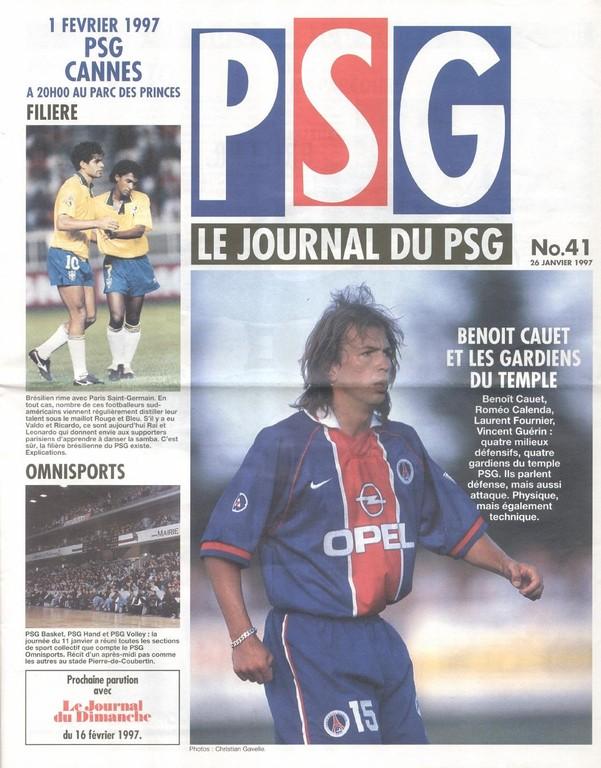 1997-02-01  PSG-Cannes (25ème D1, Le Journal du PSG N°41)