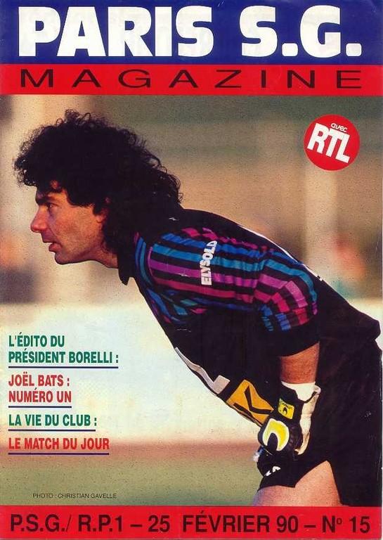 1990-02-11  PSG-Brest (25ème D1, Paris SG Magazine N°14)