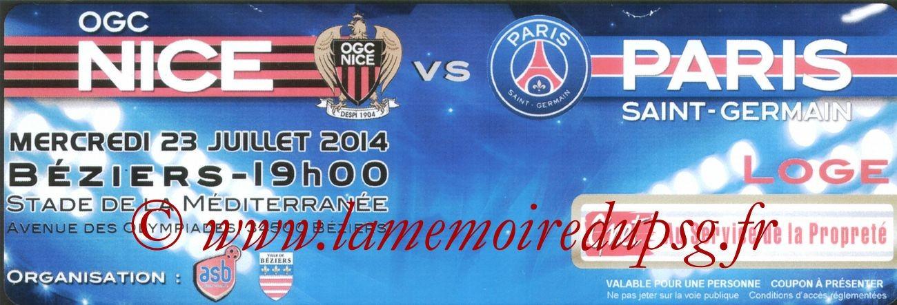 2014-07-23  Nice-PSG (Amical à Nice, Loge1)