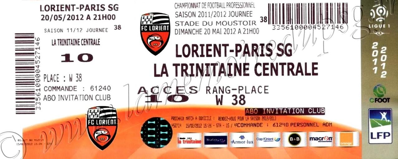 2012-05-20  Lorient-PSG (38ème L1)