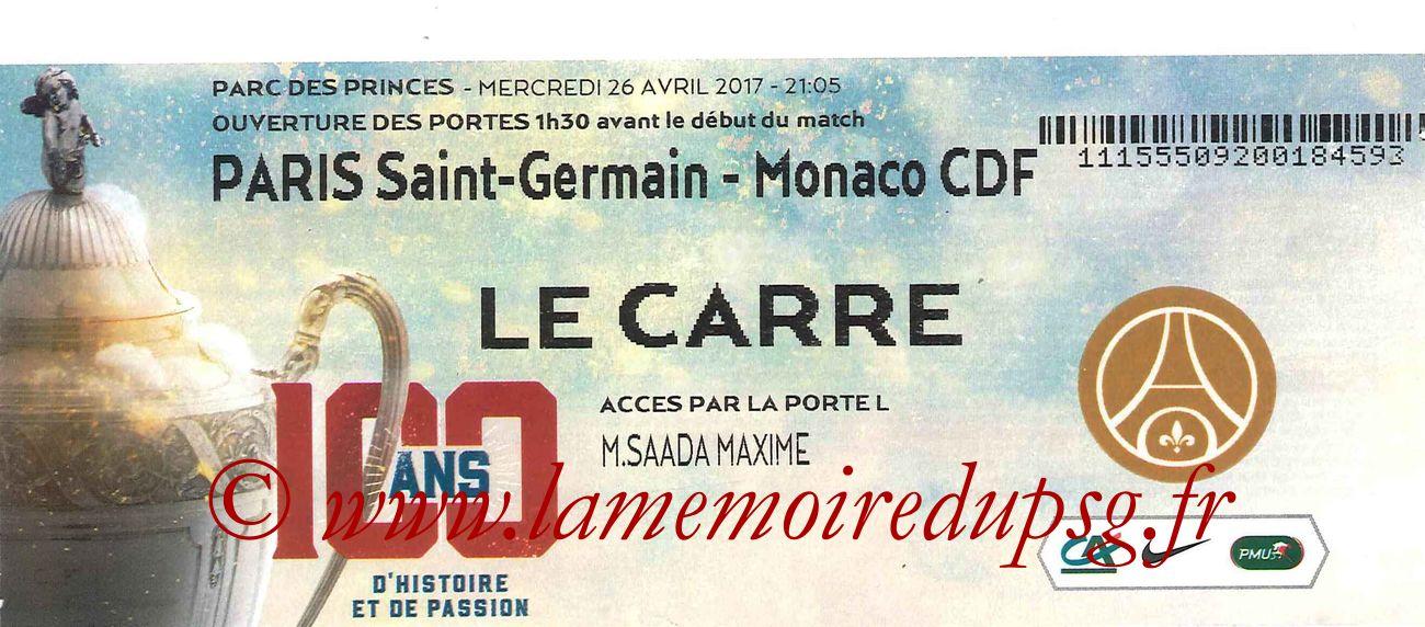 2017-04-26  PSG-Monaco (Demi-finale CF, Carré VIP)