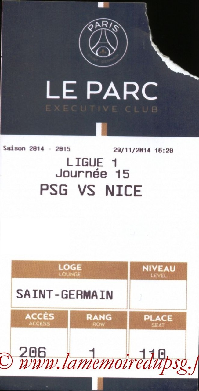 2014-11-29  PSG-Nice (15ème L1, E-ticket Executive club)