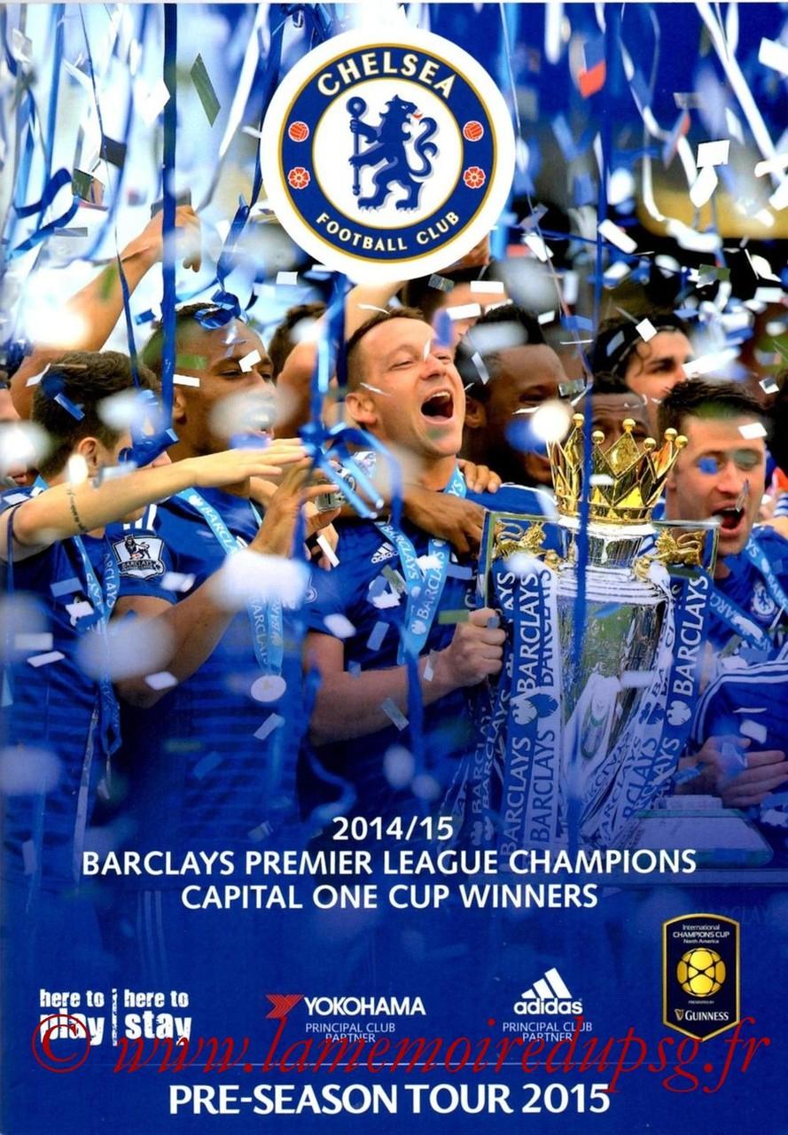 2015-07-25  Chelsea-PSG (International Champions Cup à Charlotte, Programme Officiel Tournée Chelsea)