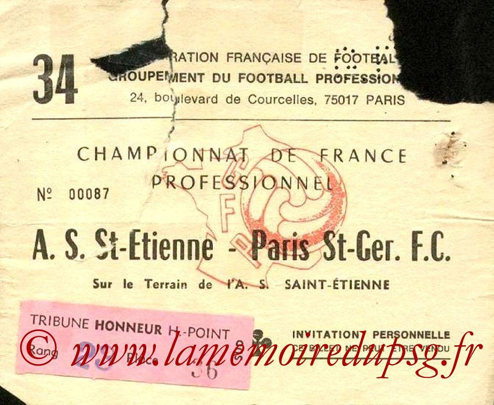 1978-04-08  Saint Etienne-PSG (34ème D1, Invitation)