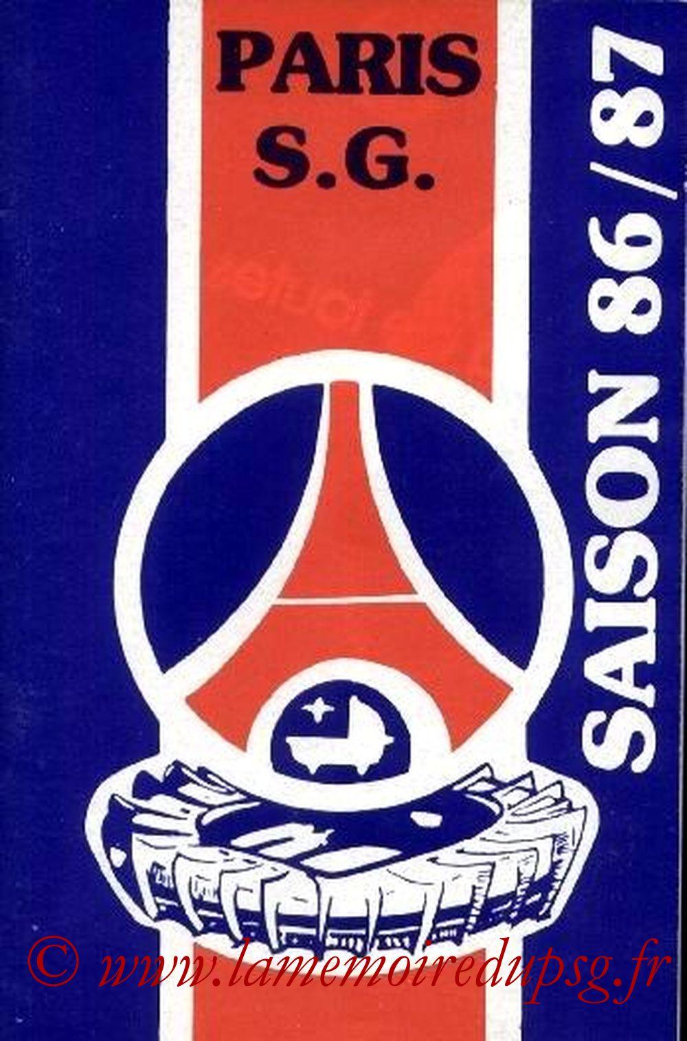 1986-87 - Guide de la Saison PSG