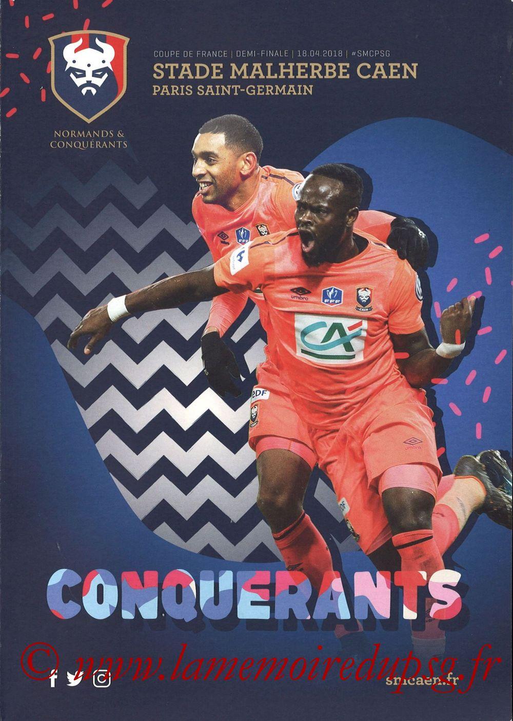 2018-04-18  Caen-PSG (Demi Finale CF, Programme officiel)