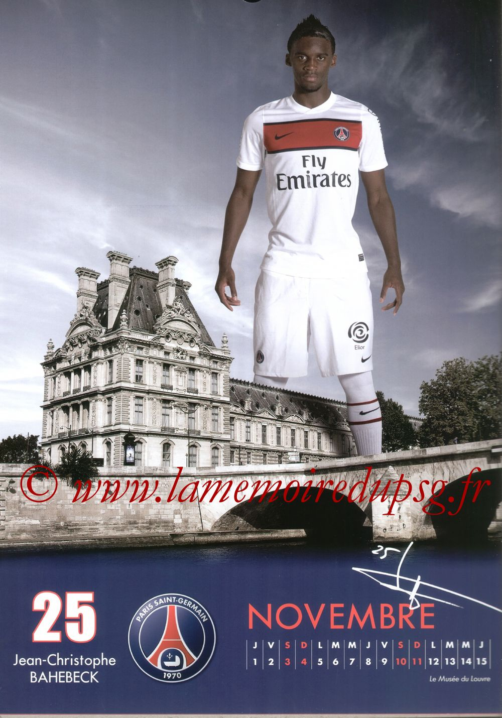 Calendrier PSG 2012 - Page 21 - Jean Christophe BAHEBECK