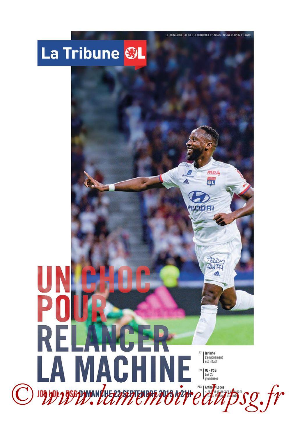 2019-09-22  Lyon-PSG (6ème L1, Tribune OL N°284)