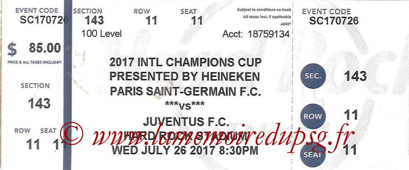 2017-07-26  PSG-Juventus (International Champions Cup)